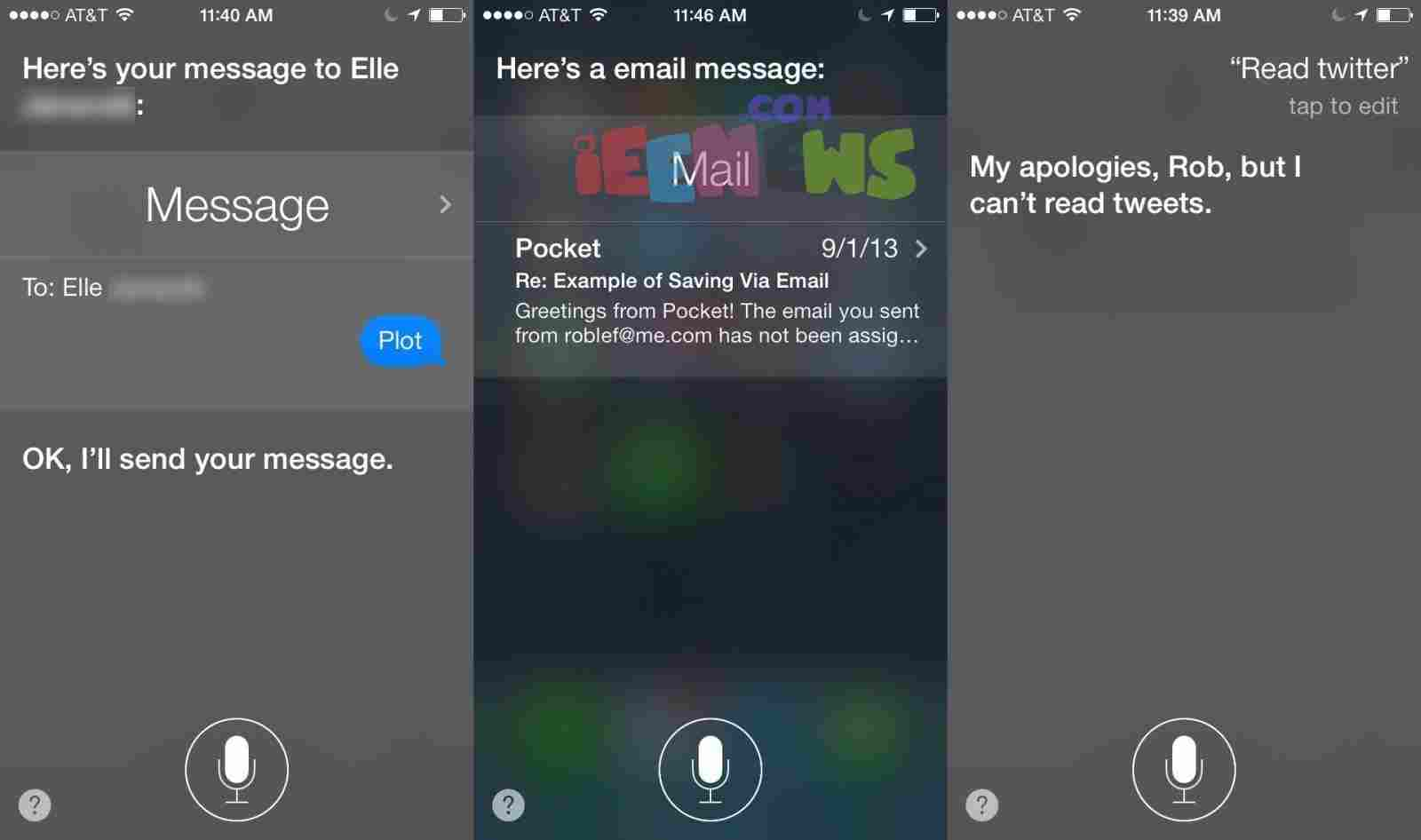 How to check and read email messages Using siri in iOS 7 and iOS 8