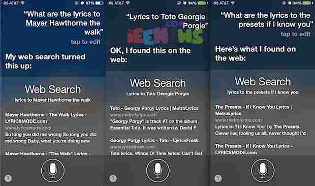 Apple iOS Siri - Music search