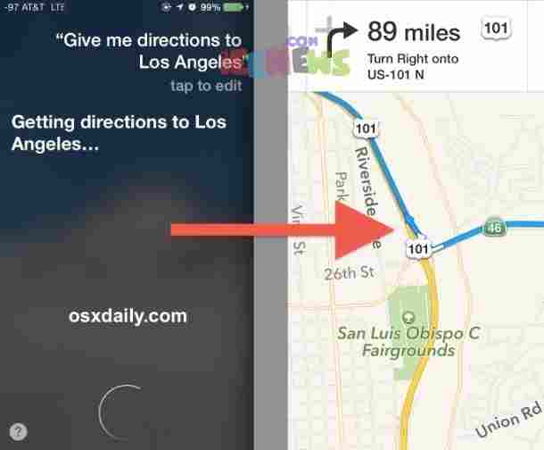 Apple iOS Siri - Location search
