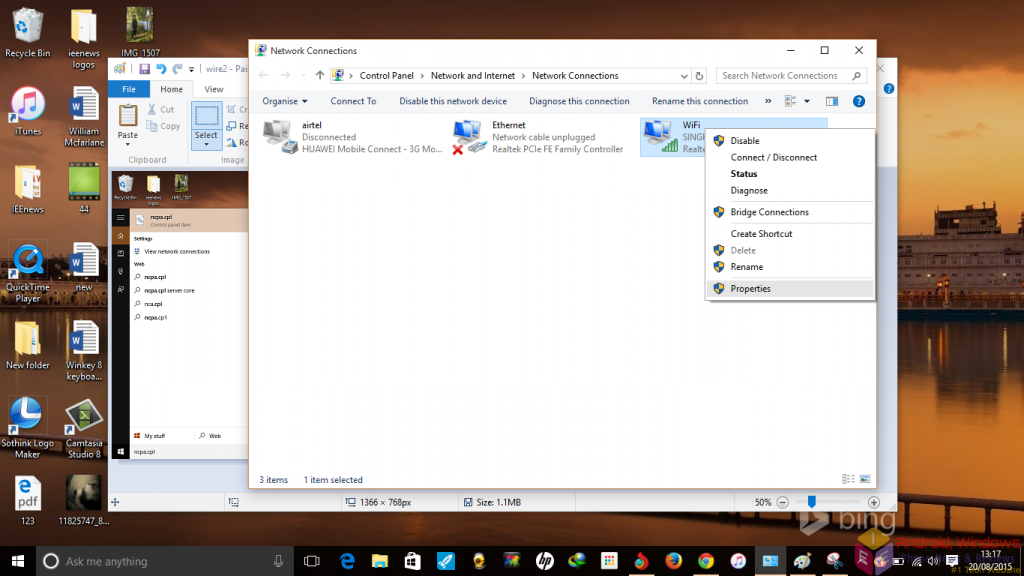 Making a wireless home network connection in Windows - Step 3