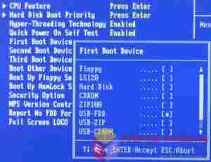 How to boot from USB or CD Drive on a Windows PC