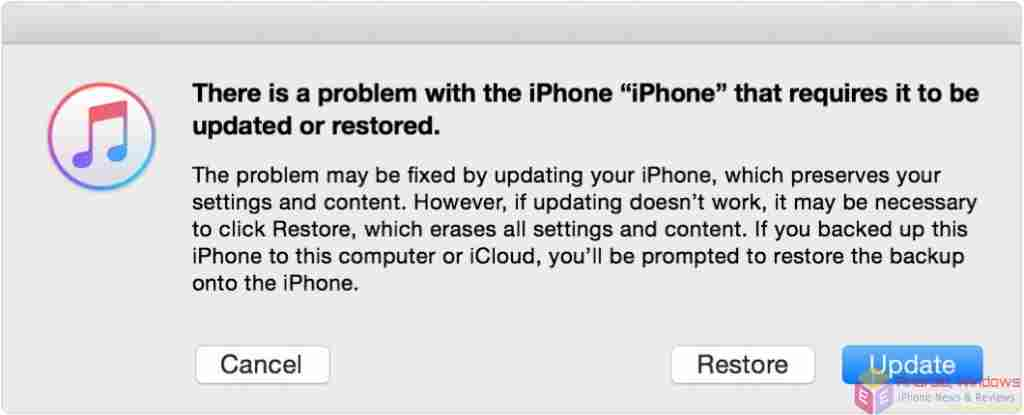 Restore using recovery mode - iPad factory reset without password