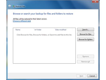 Windows 7 Backup Restoration