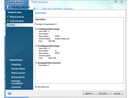 Windows 7 Backup with Acronis True Image