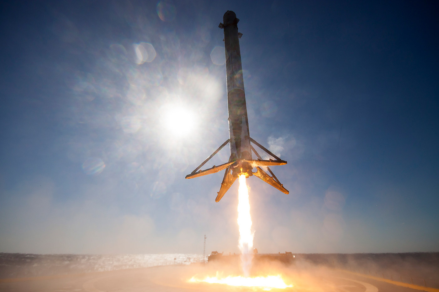 Falcon 9 sea landing of SpaceX 360