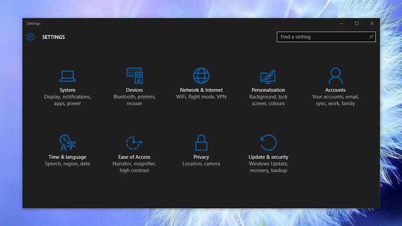 Windows 10 settings to customize your system, Activate Windows dark theme