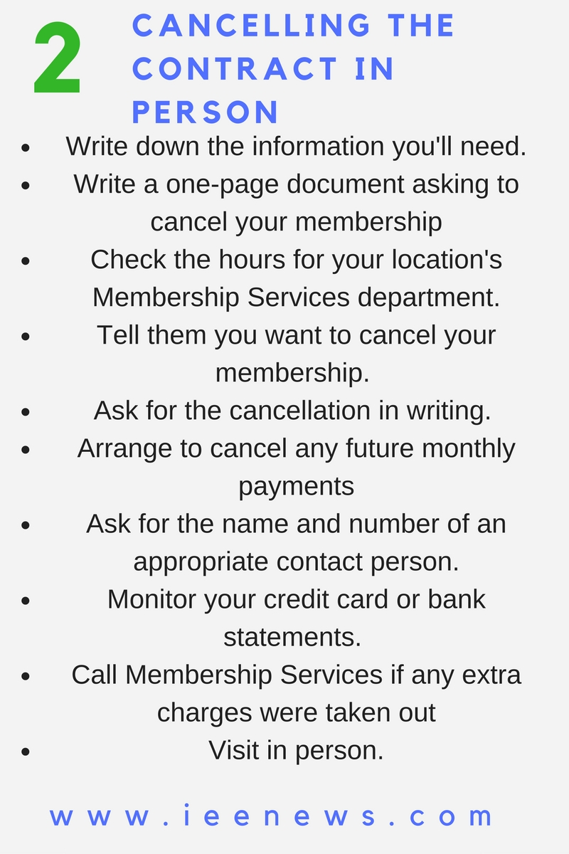 2 Cancelling the Contract in Person: How to cancel planet fitness membership
