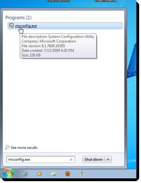 How to Change startup programs Windows 7, 8 Windows 10