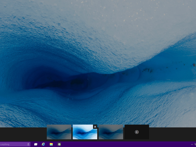 Step 1: How to use multiple desktops in Windows 10: win 10 multiple desktops: Click on one of the large thumbnails to make that program (and the corresponding desktop) active
