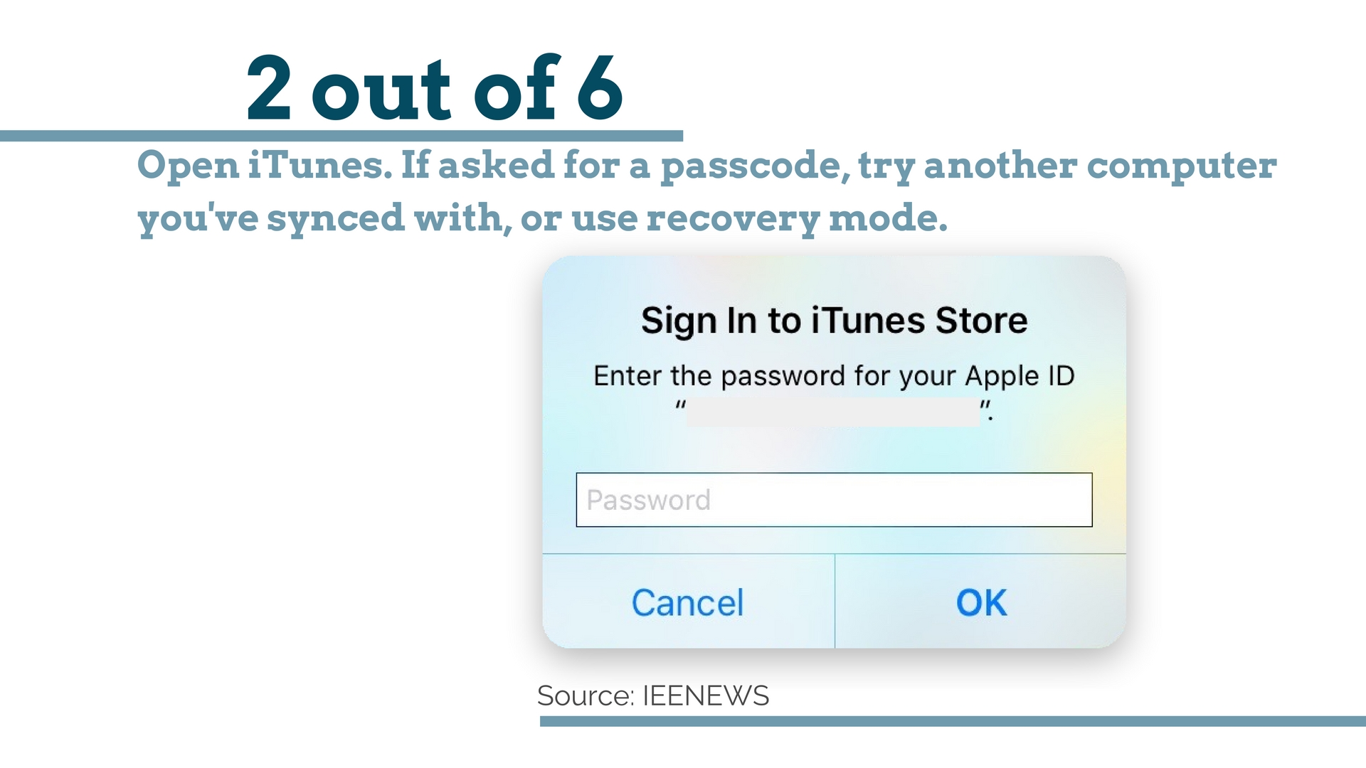 Open iTunes: How to Bypass iPhone 4 passcode Using iCloud