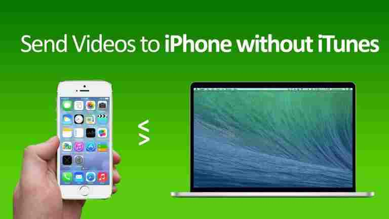 How to put videos on iphone without itunes