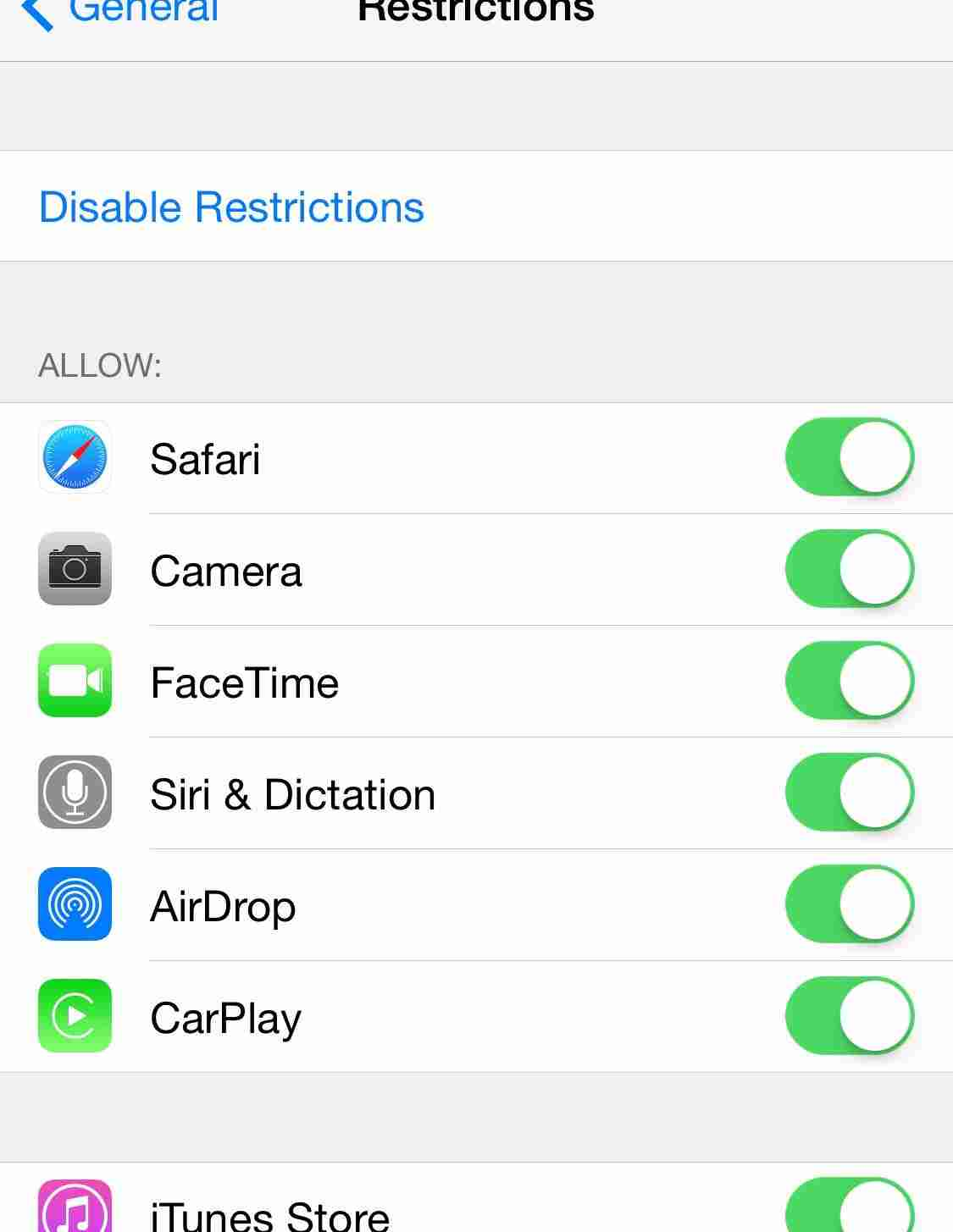 How to enable Parental restrictions on iPhone camera and Siri