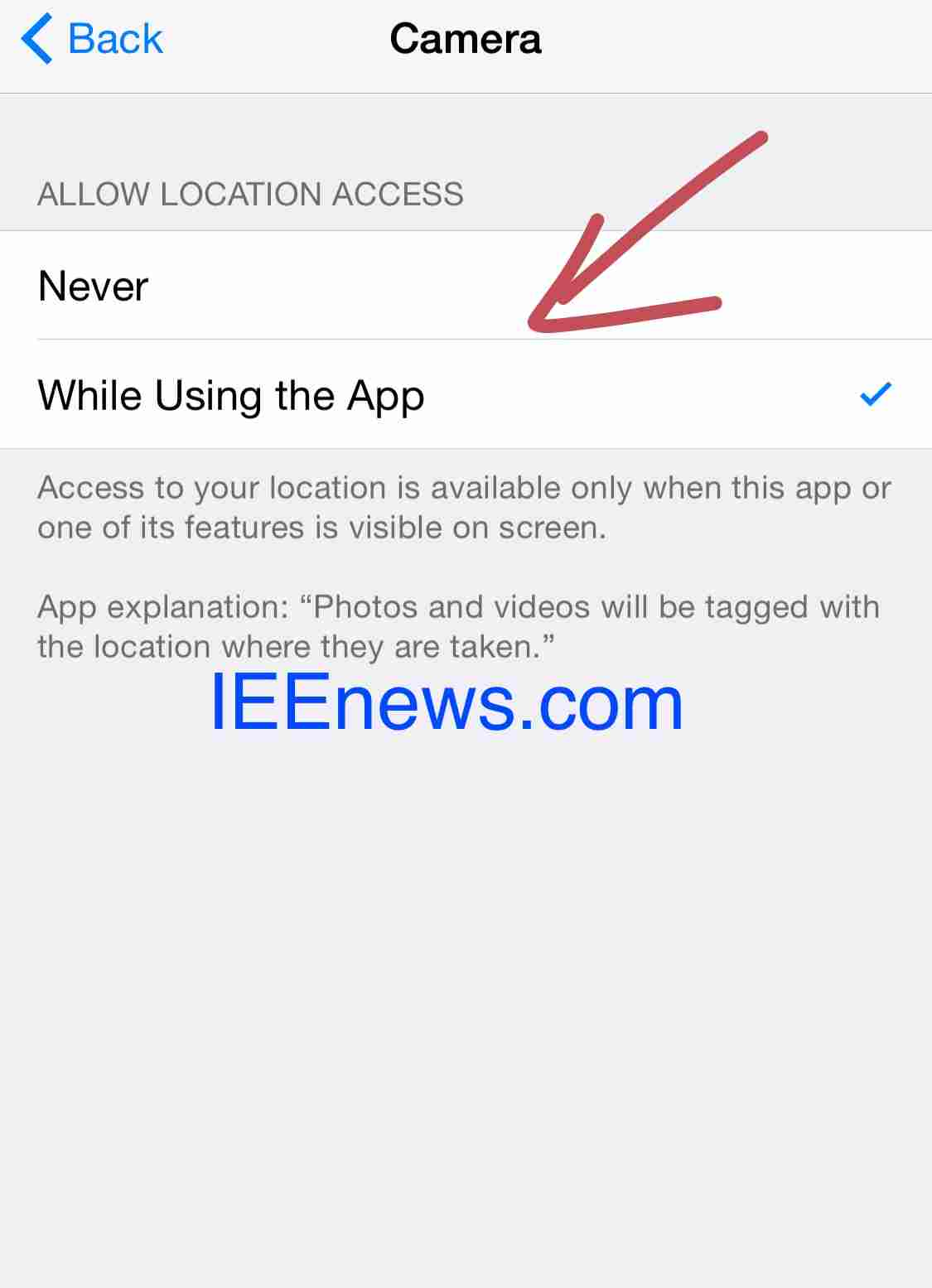 How to disable photo or camera Geotagging on iPhone and iPad