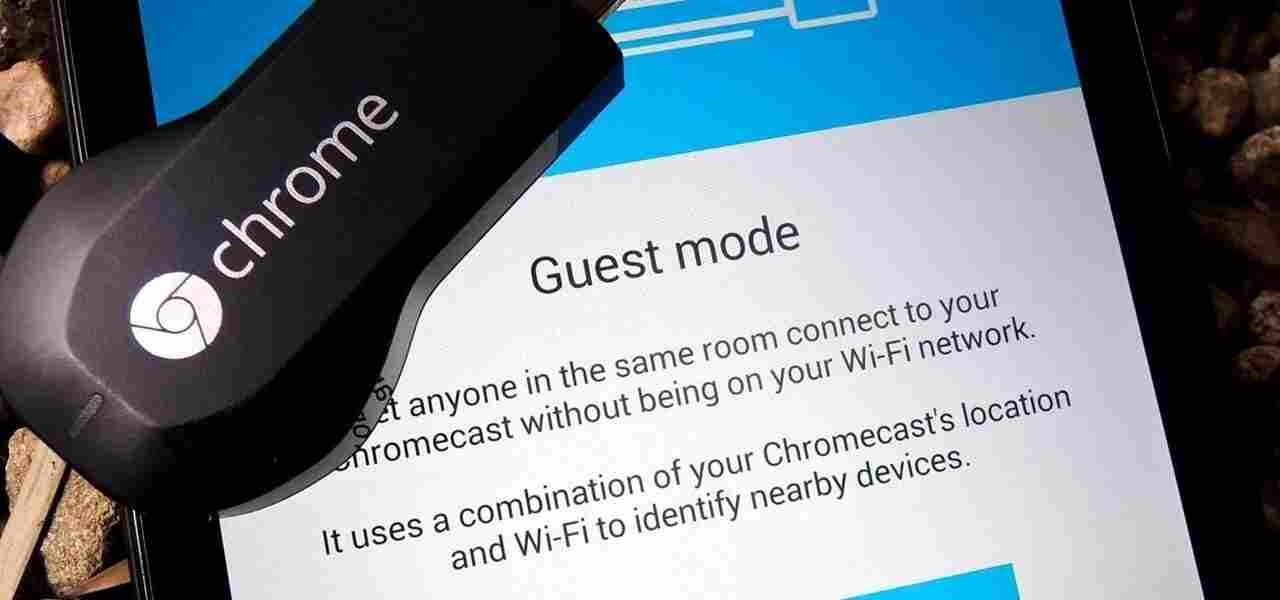 Setup chromecast guest mode