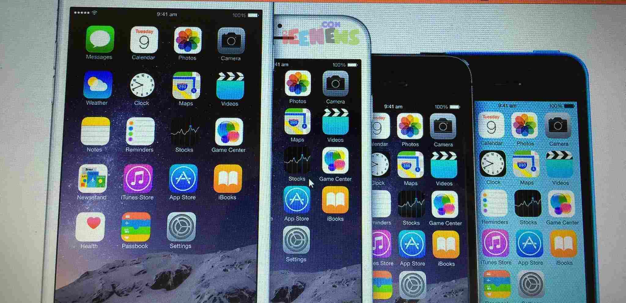 Apple iPhone 6 plus, 6, 5s, and 5c Comparision and specifications