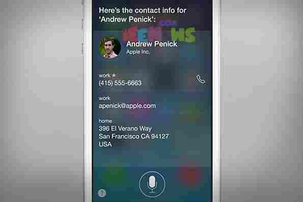 How to get contact information using Siri