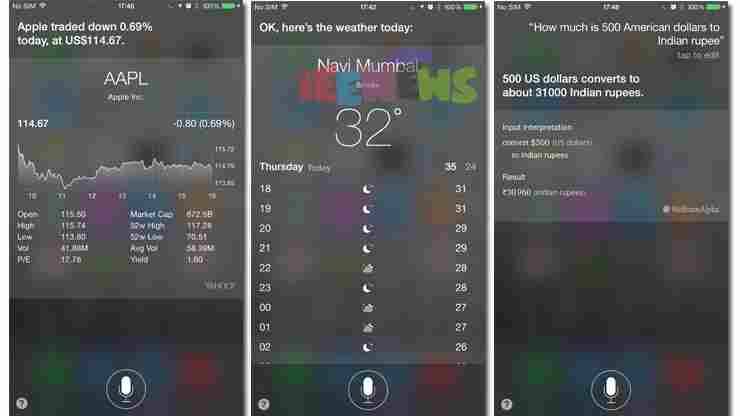 How to ask questions to Siri with typing