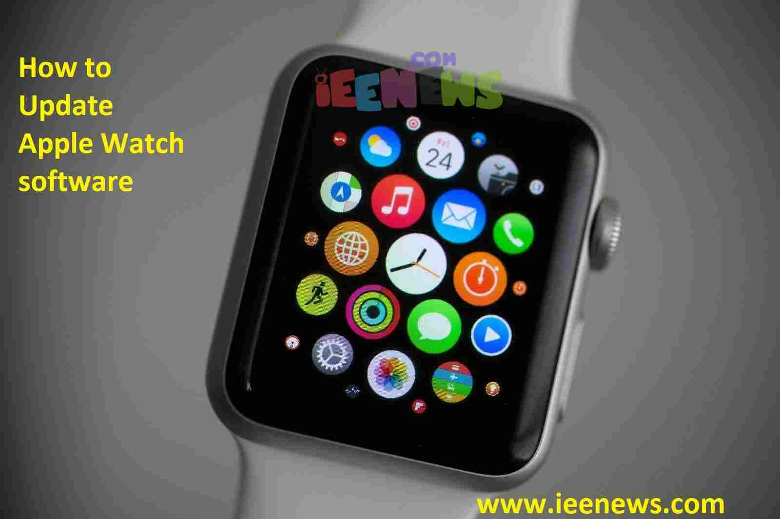 How to Update Apple Watch software
