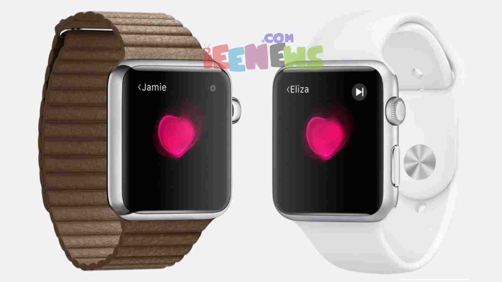 How do I share my heartbeat on the Apple Watch