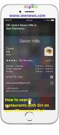 How to search restaurants with Siri on your iPhone and iPad