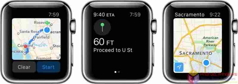 How to open maps on Apple watch, Get info about a landmark