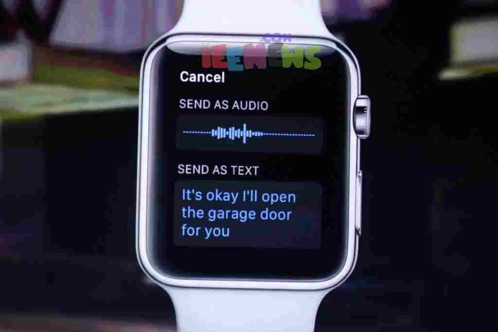 How to send audio notes with Apple Watch