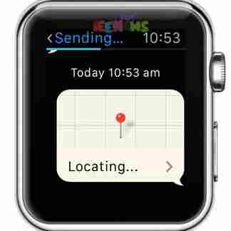 How to send your location with Apple Watch