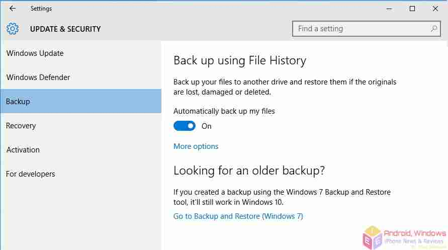 How to set up windows 10 backup - Windows 10 backup