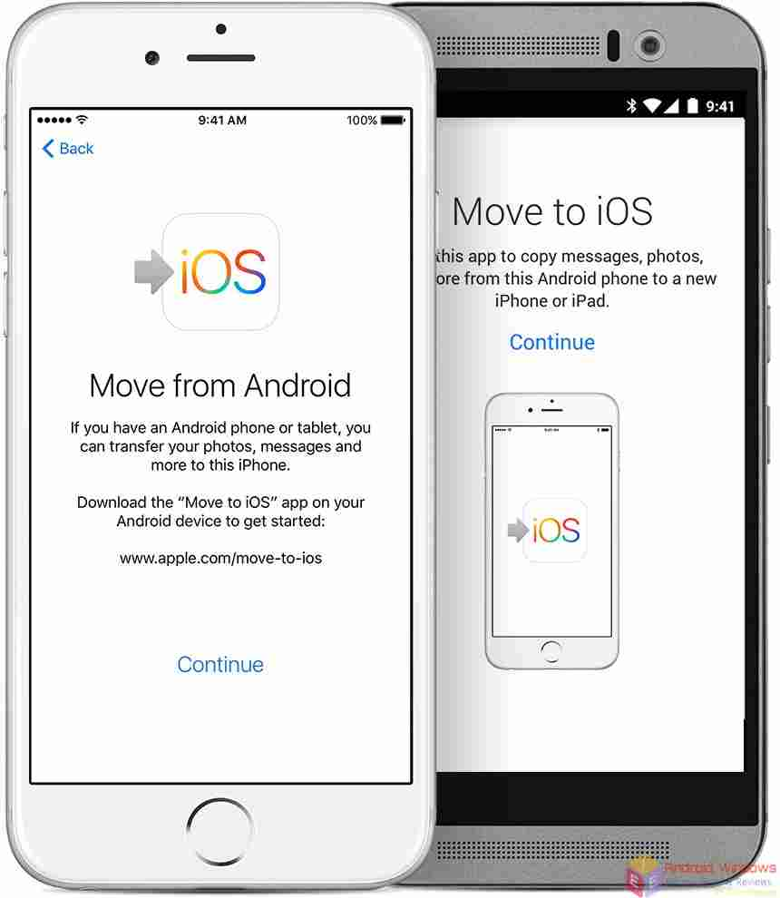 Transfer contact from android to iPhone Using Android Migration or Move to iOS app