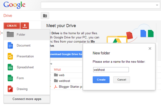 Upload photos to google drive from pc