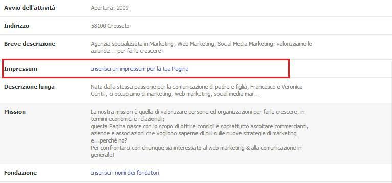 Impressum (Mathead) or imprint (Facebook Impressum) - IEEnews