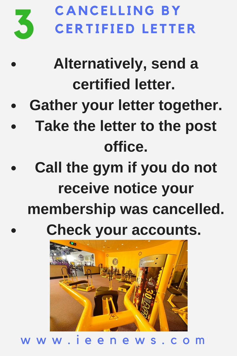 3 Cancelling By Certified Letter How To Cancel Planet Fitness