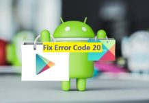 "Fix Error Code 20: Error 20 android google Play Store: ""Printer Not Activated - Error Code 20"""