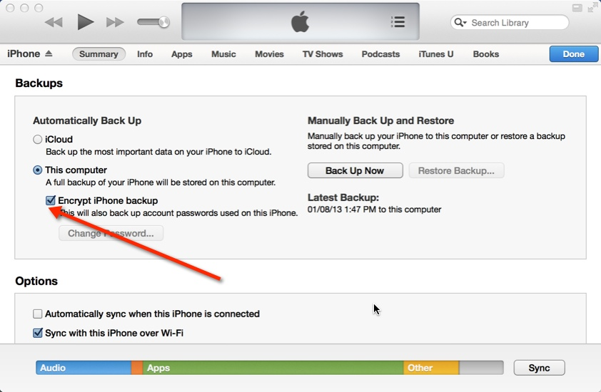 Step by step how to backup iphone to itunes