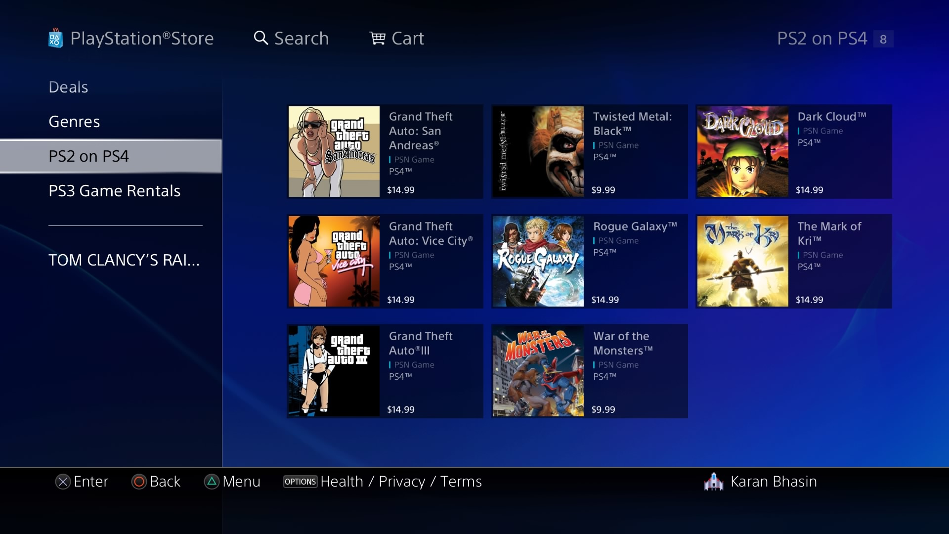 How to view active downloads on ps3
