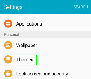 How to Change Themes on Galaxy S6: How to use Samsung Galaxy S6 themes: Apply Themes In Samsung Galaxy S6