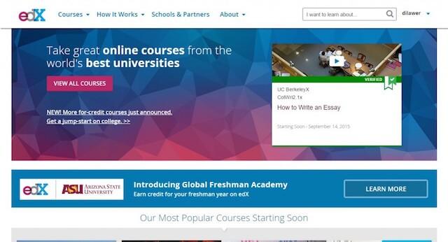 site like coursera - edx Best coursera alternative For Online Learning