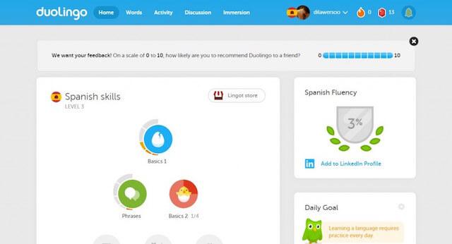 duolingo Best coursera alternative For Online Learning