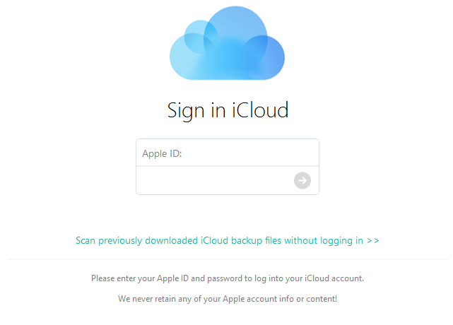 Recover iphone data from iCloud Using PhoneRescue
