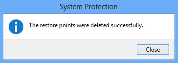 Delete restore points