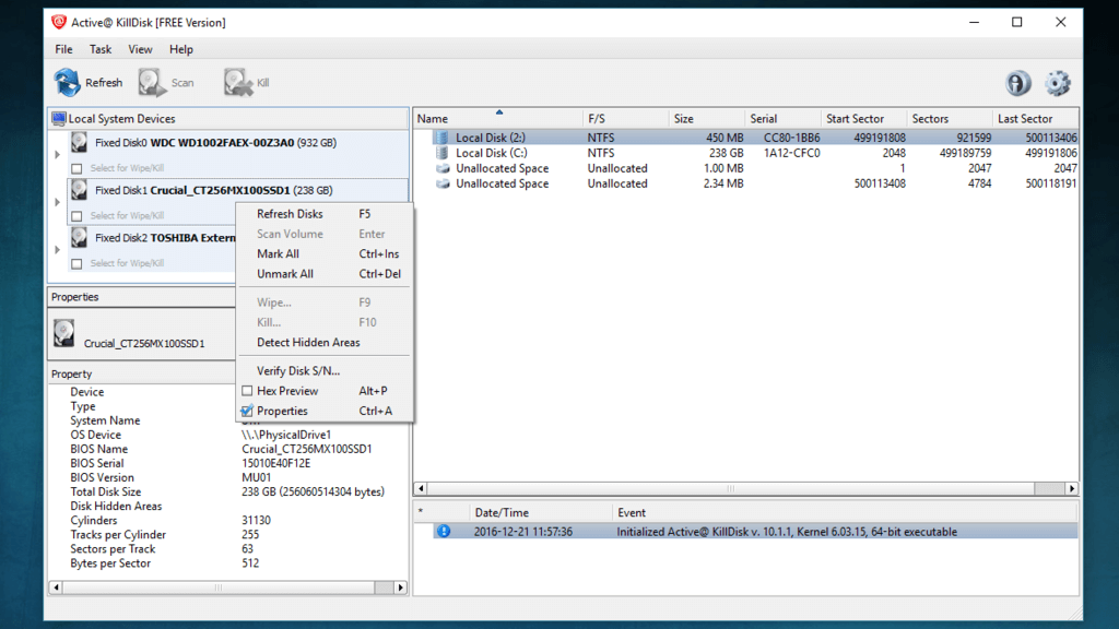 KillDisk, with native application for GNU Linux How to wipe a hard drive , Hard drive eraser