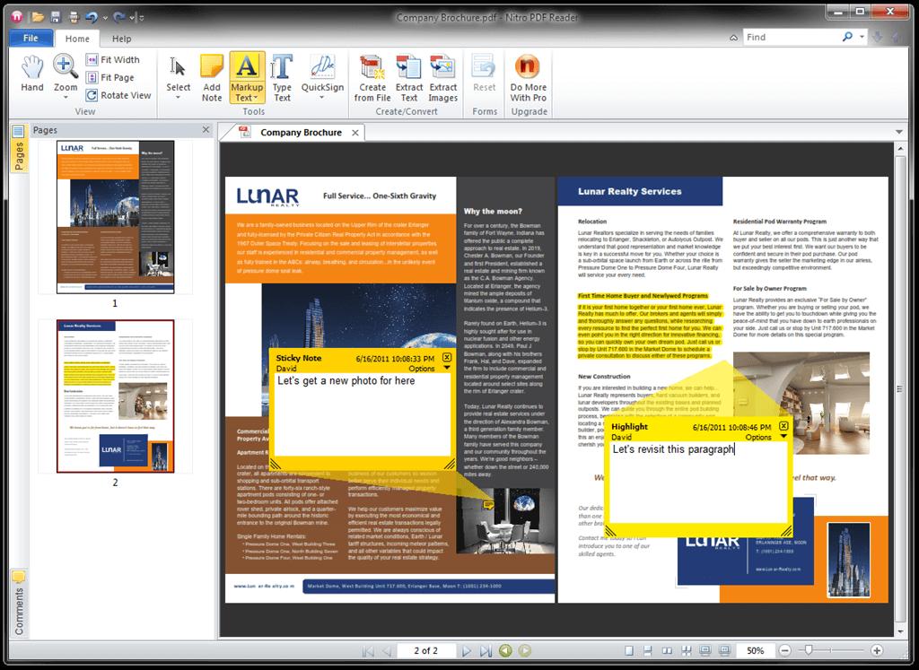 Nitro PDF Reader lightweight pdf reader