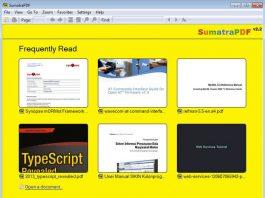 Sumatra PDF lightweight pdf reader