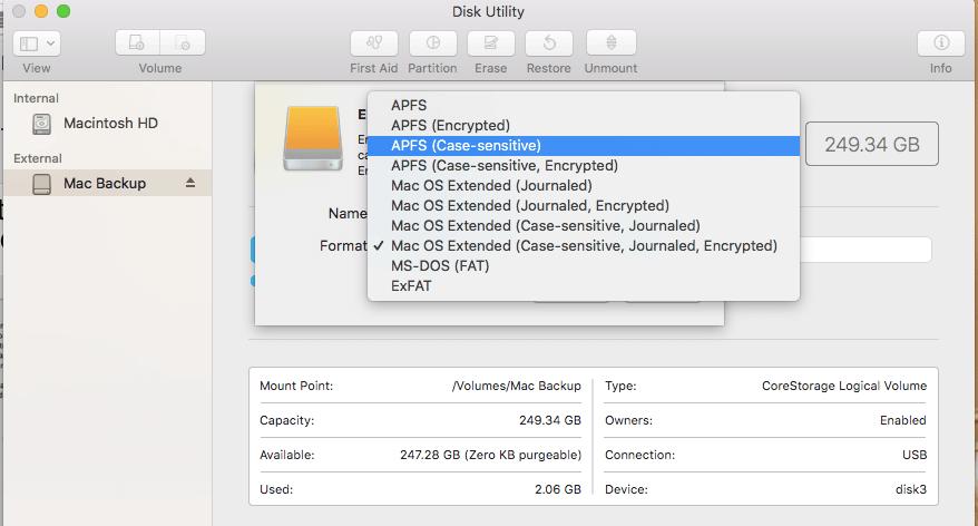 How to Format a Disk in MacBook Air and Mac OS Sierra or High Sierra