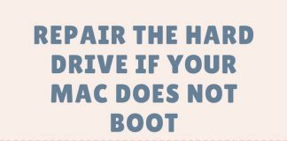 Repair the hard drive if your Mac does not boot